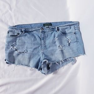 Ralph Lauren Distressed Jean Shorts